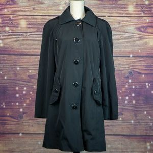 London Fog Single Breasted Trench Coat Size M